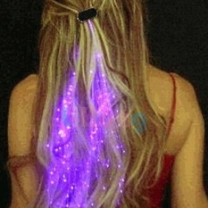 "Klub Malam dengan Kekuatan Tinggi Hot Mainan Bandung Photo: ""-anak Colorful Luminous Serat Braid Lampu LED Flash Rambut For Bar Cheer Color Acak Girl (Warna: Multicolor)-Intl"