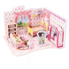 Nixnox Mainan Anak 3D Puzzle Sweet Bedroom - Pink