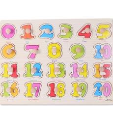 Nixnox Mainan Edukatif Anak Puzzle Knob 1-20 MTL-002