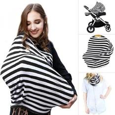 NO.1 Multi Use Nursing Breastfeeding Syal Tinggi Kursi, Shoppingcart & Amp; Penutup Kereta Dorong Infinity Baby Carseat Canopy, Bayi Shower GIF untuk Anak Perempuan dan Anak Laki-laki-Intl