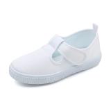 Spek Non Slip Lembut Flat Shoes Bawah Siswa Sepatu Kain Putih Sepatu Baymini Tiongkok