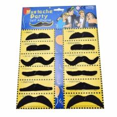 Novelty Fake Kumis Novelty dan Toy Kumis untuk Anak-anak dan Remaja Hitam-Intl
