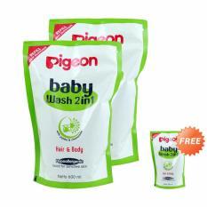 Beli Ntr Paket Hemat Isi 3 Pigeon Baby Wash Chamomile 2In1 Refill 600 Ml 600Ml Nyicil