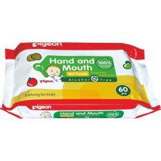 NTR PIGEON Baby Wipes / Tissue Hand and & Mouth 60s / 60pcs / 60 pcs