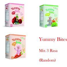 Beli Ntr Yummy Bites 3 Box Biskuit Yummy Bites Rice Crackers 6 50 Gram Mix Rasa