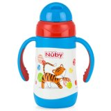 Jual Nuby Stainless Steel Twin Handle Insulated Straw Cup 280Ml Tiger Baru