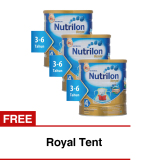 Nutrilon Royal Pronutra 4 Susu Pertumbuhan Madu 800Gr Bundle 3 Kaleng Freeroyal Tent Asli