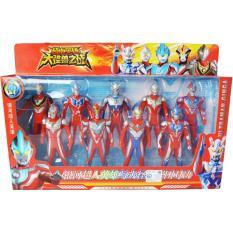 OBRAL MURAH Figure Set Ultraman 9 Pcs - Mainan Ultraman Ginga