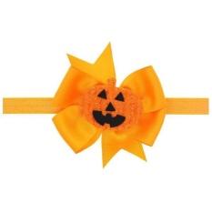 Barat Halloween Bowknot Bayi Rambut Band Pumpkin Kids Lovely Fashion-Intl