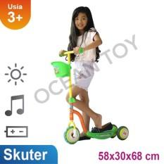 Toko Ocean Toy Pmb Skuter Roda Tiga Orange Banten