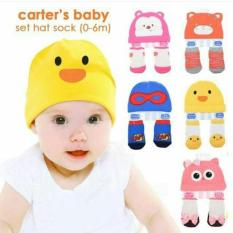 Oleno Baby Topi Kaos Kaki Set Animals Hat Socks Set Kaos Kaki Dan Topi Lucu Perlengkapan Bayi Dan Anak Kado Bayi Perlengkapan Newborn Pakaian Bayi Aksesoris Bayi Aksesoris Bayi Lucu Multicolor Original