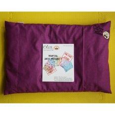 Spesifikasi Olus Pillow Bantal Kulit Kacang Hijau Bantal Kesehatan Kepala Bayi Anti Peyang Ungu Tua Lengkap Dengan Harga