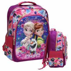 Onlan Frozen Elsa Dan Anna Ransel Import 5D Pink Onlan Diskon