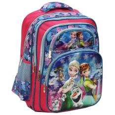 Toko Onlan Disney Frozen Fever 5D Timbul Hologram Ransel Sch**l Bag Sd 5 Kantung Besar Import Lengkap Di Dki Jakarta