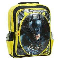 Review Onlan Marvel Batman Tas Ransel Anak Ukuran Sd Bahan Saten 3 Kantung Besar Yellow Black Terbaru