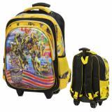 Review Onlan Tas Trolley Anak Laki Laki 5D Timbul Ukuran Besar Sd Yellow Terbaru