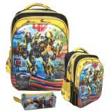 Jual Onlan Transformers Bumble Bee Vs Optimus Prime 5D Timbul Tas Ransel Sd Dan Kotak Pensil Import Di Dki Jakarta