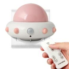 Opoopv Anak-anak Cahaya Malam Kecil dengan Timer Plug In Wall Night LampFor Anak-anak. Remote Control untuk 3 Mode Pencahayaan. 5 Gelar Terang. Waktu 10/30 Min (Pink)-Intl