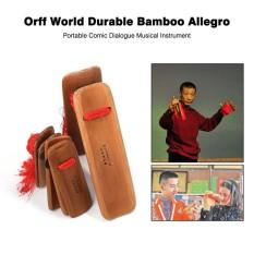 Orff Dunia Bambu Tahan Lama Allegro Portabel Komik Dialog Alat Musik-Internasional