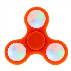 Original Fidget Spinner LED Hand Toys Mainan Tri-Spinner EDC Ceramic Ball Focus Games Lampu Led - Pink