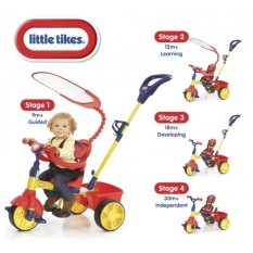 ORIGINAL - Sepeda Little Tikes 4 in 1 - Trike Primary