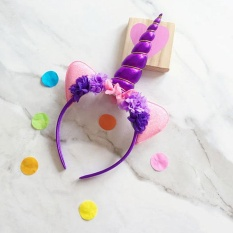 Oscar Toko Aksesoris Bayi Dekorasi Fashion Kids Tanduk Unicorn Rambut Hoop Headband Bulang Halloween Supply-Intl