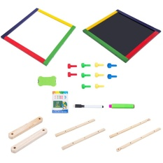 OSMAN Adjustable Kids Drawing Board Melipat Sketchpad Magnetic Double Kayu Panel Colorful