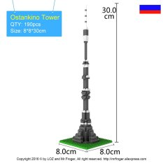 Ostankino Tower Berlian Blok Terkenal Di Dunia Arsitektur Seri Mainan Batu Bata Blok Bangunan Mainan Klasik Kubus Kota-Intl