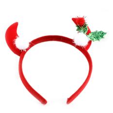 Ox Horn Headband Aksesori Rambut untuk Anak Ornamen Natal