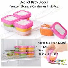 Beli Oxo Tot Baby Blocks Freezer Storage Containers 4Oz Oxo Tot Online