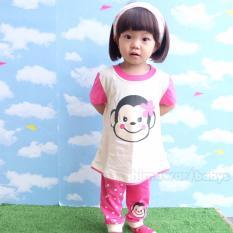 Harga Pajamas For Kids Animal Monkey Baju Tidur Anak Perempuan Termurah