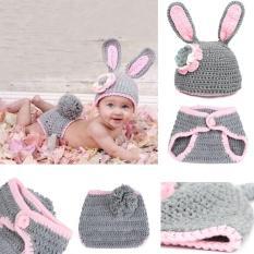 Pakaian Topi Kostum Bayi Rajutan Sulam Untuk Properti Fotografi