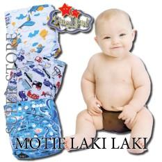 Spek Paket Bundle 3 Clodi Babyland Pocket Dengan 3 Insert Microfiber Motif Laki Popok Bayi Cuci Ulang Berkualitas Banten