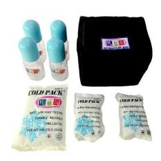 Paket Cooler Bag RBS With 4 Glass Bottle Hitam