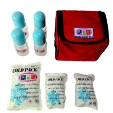 Paket Cooler Bag RBS With 4 Glass Bottle Red/Maroon