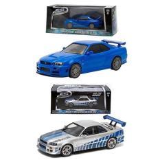Paket Greenlight 1:43 Nissan Skyline - Fast & Furious Series - 2Pcs - Aef8hb