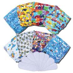 Promo Paket Hemat Agen Clodi Babyland Pocket Motif Laki Laki 8 Pcs Clodi Type Pocket Dengan 8 Insert Microfiber Akhir Tahun