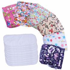 Jual Paket Hemat Agen Clodi Babyland Pocket Motif Perempuan 6 Pcs Clodi Type Pocket Dengan 12 Insert Microfiber Ori