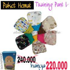 Paket Hemat Training Pant Klodiz Celana Latihan Pipis Size L 6 Pcs Murah