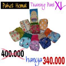 Jual Paket Hemat Training Pant Klodiz Celana Latihan Pipis Size Xl 8 Pcs