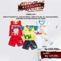Paket Hemat Waka Baby Set Pakaian Baju Anak Bayi Laki - Kode B