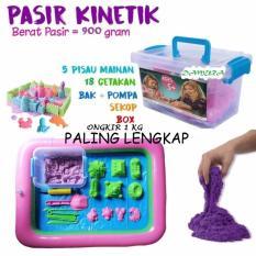 Paket Pasir Kinetik 900 Gram + Aksesoris - Kinetic Play Sand Mainan Edukasi By Damura Grosir