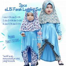 Paket Sisters Elbi Farah Legging Set / Baju Bayi Perempuan Muslim bu Little Bee Boutique