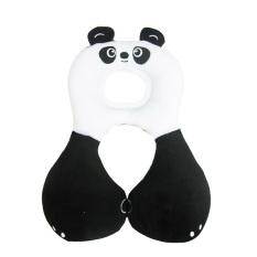 PAlight kartun hewan bayi Headrest U bantal bantal leher anak (Panda L)