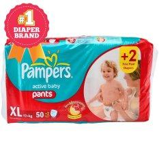 Harga Pampers Popok Active Baby Pants Xl 50 2 Terbaik