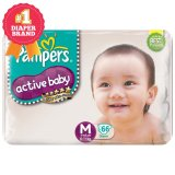Diskon Pampers Popok Active Baby Taped M 66 Branded