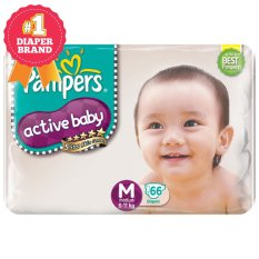 Harga Pampers Popok Active Baby Taped M 66 New