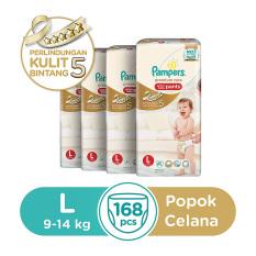 Jual Pampers Popok Celana L 4X42 Premium Care Murah Jawa Barat