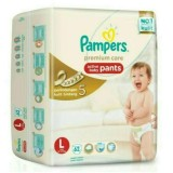 Diskon Pampers Popok Celana L 62 Premium Care Branded