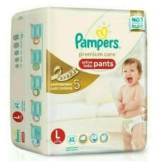 Spesifikasi Pampers Popok Celana L 62 Premium Care Terbaik